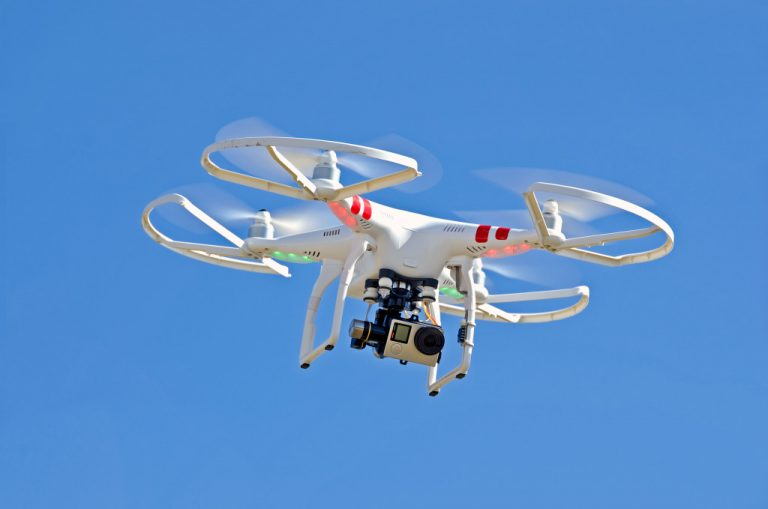 a flying drone